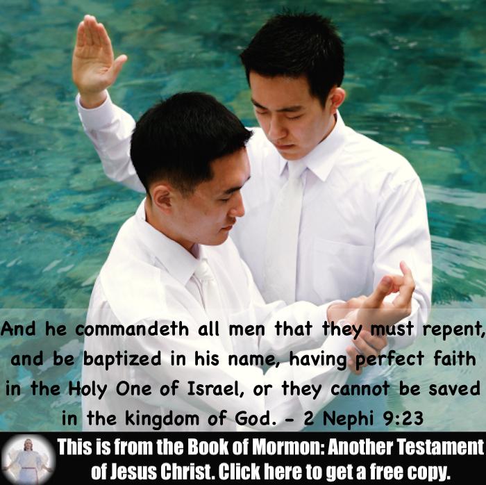 Seven Scripture Verses about Baptism!!